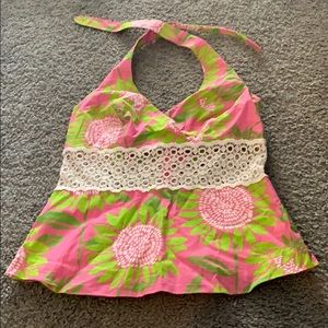White tag lilly Pulitzer halter top
